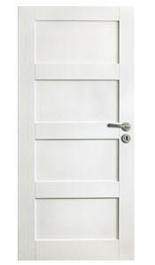bílé dveře masiv