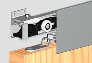 mechanika posuvných dveří na stěnu malý