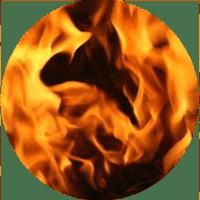 plameny kolečko