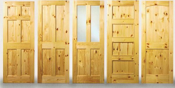 dveře z borovice