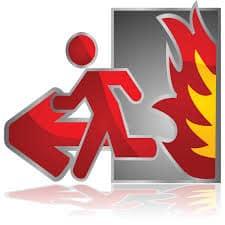 evakuace oheň