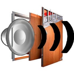 Bezpečnostní dveře - hluk