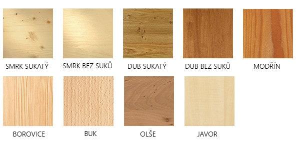 dřeviny smrk bezsuký a sukatý
