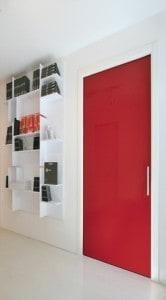 posuvné dveře celoskleněné Eclisse COLORS červené