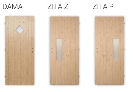 Palubkové dveře vchodové Dáma, Zita