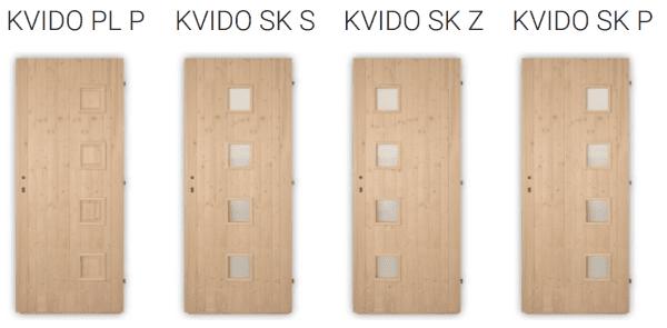 Palubkové dveře vchodové Kvido
