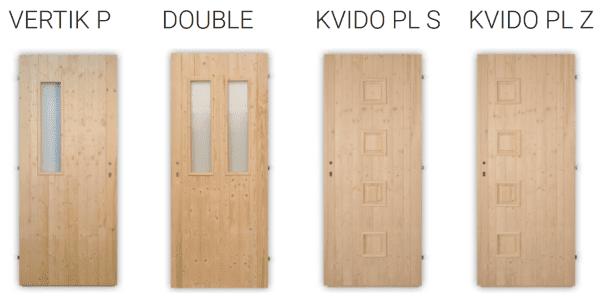 Palubkové dveře vchodové Kvido, Vertik, Double