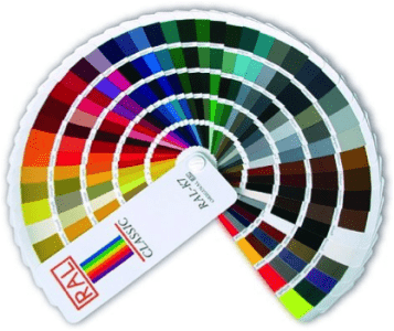 Vzorník barev RAL