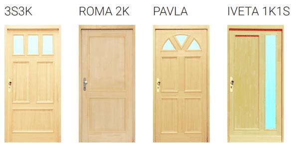 vstupní dřevěné dveře Iveta, Pavla, Roma, 3S3K
