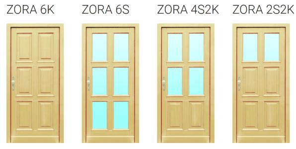 vstupní dřevěné dveře Zora