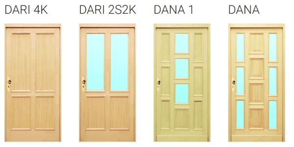 vstupní dřevěné sveře Dari, Dana