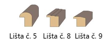Lišta 5+8+9
