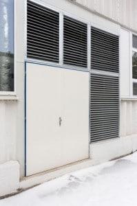Plechové dveře využití