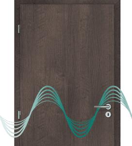 CAG zvukově izolační dveře