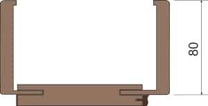 profil zárubně č. 2
